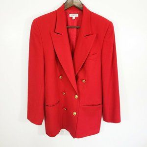 Talbots Double Breasted Worsted Wool Blazer Jacket